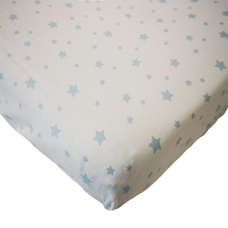 Changing Mat Cover - Light Blue Star
