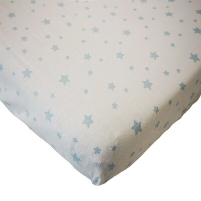 Changing Mat Cover - Light Blue Star