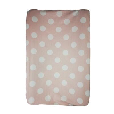 Changing Mat Cover - Big Polka Blush Pink