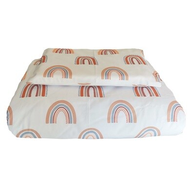 Cot Duvet Cover Set - Rainbow