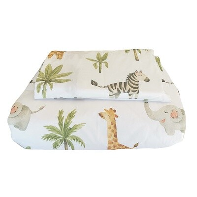 Cot Duvet Cover Set - Baby Safari