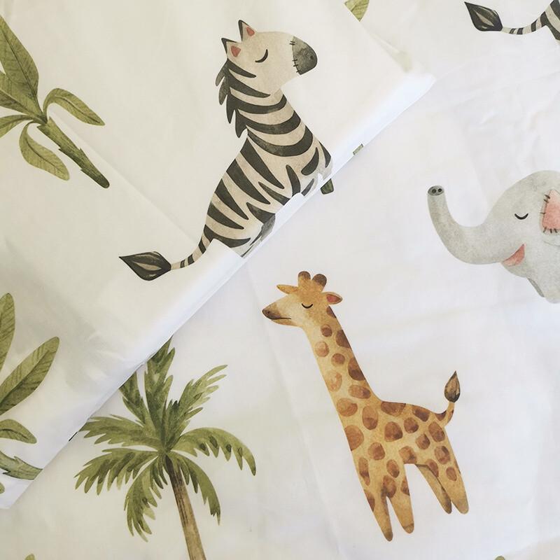 Cot Duvet Cover Set - Baby Safari