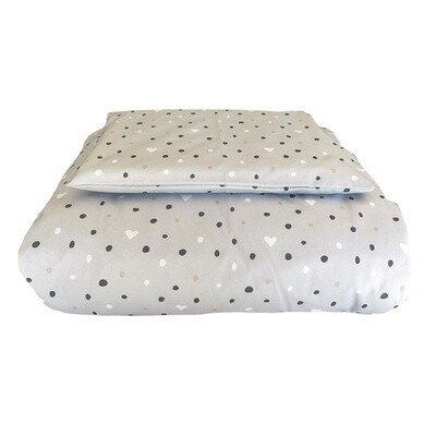 Cot Duvet Cover Set - Polka & Heart