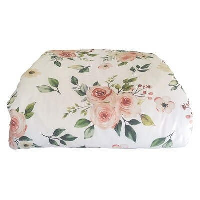Cot Duvet Cover Set - Rose