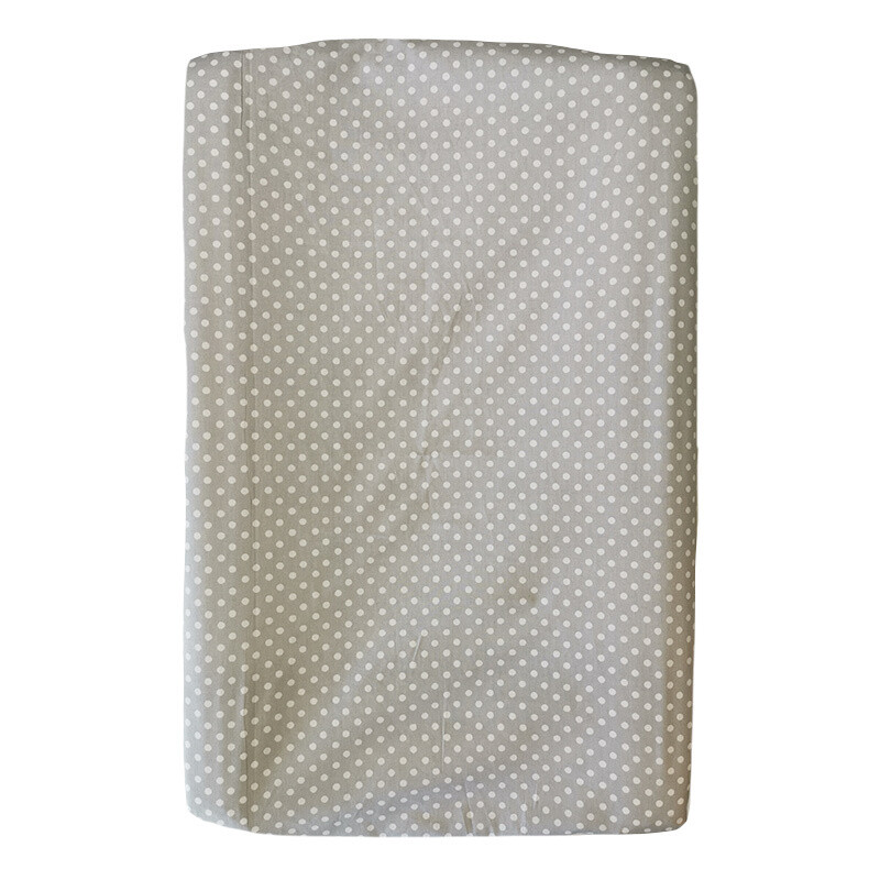 Changing Mat Cover - White Polka on Grey