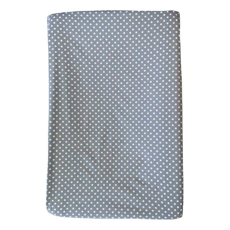 Changing Mat Cover - White Polka on Blue