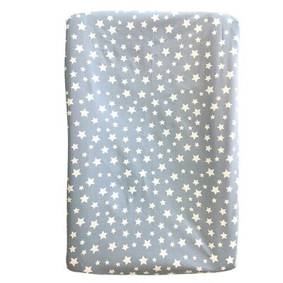 Changing Mat Cover - White Star on Blue