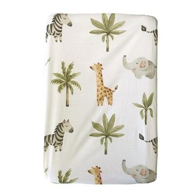 Changing Mat Cover - Baby Safari