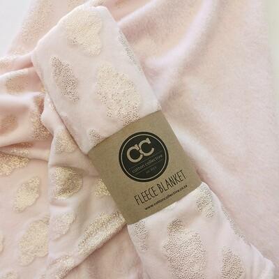 Fleece Baby Blanket -Cloud Blush