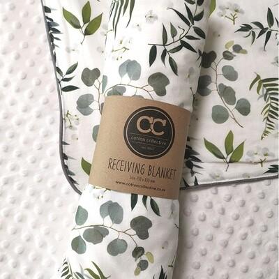 Botanical Design Baby Receiving Blanket