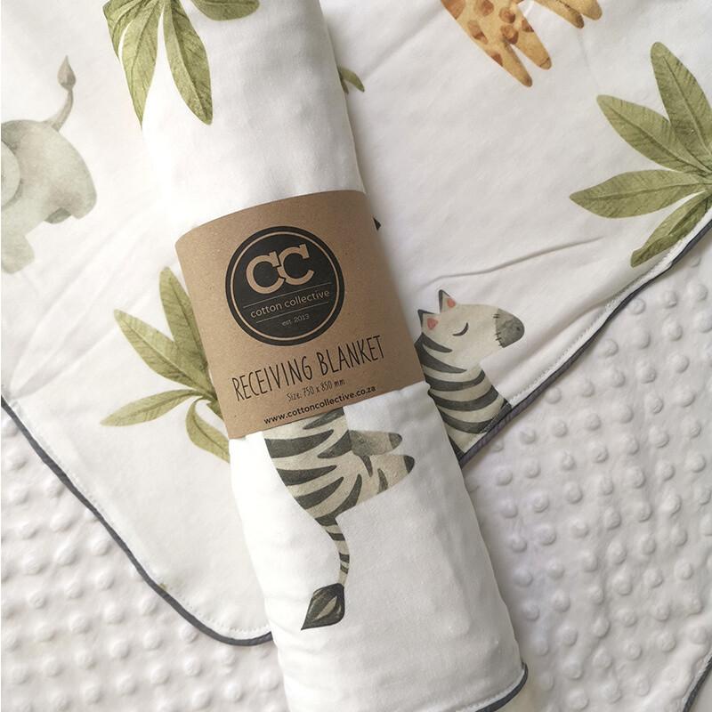 Safari Design Baby Receiving Blanket
