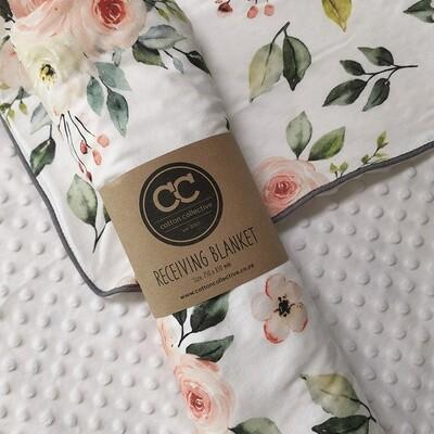 Rose Design Baby Receiving Blanket