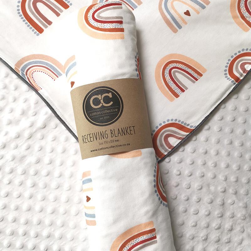 Rainbow Design Baby Receiving Blanket