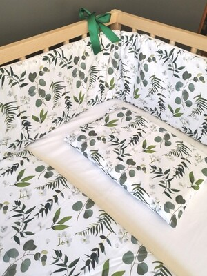 Cot bumper cover - Botanical