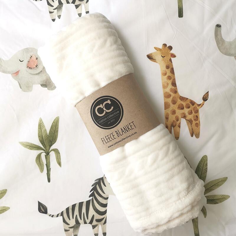 Cot Duvet Cover Set - Baby Safari- FREE BLANKET