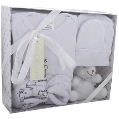 White bunny gift set