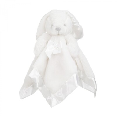 Plush white bunny comforter