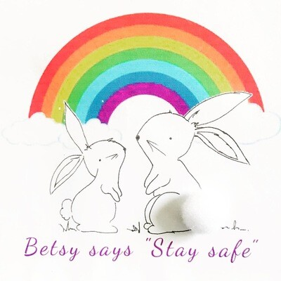 Betsy says Stay Safe Greeting Card