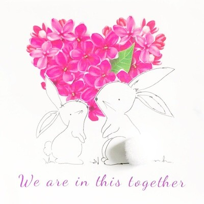 We Are in this Together Greeting Card
