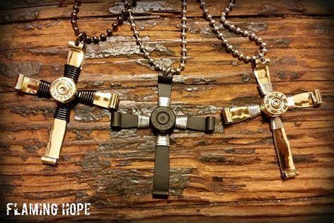 Bullet Casing Cross Necklace