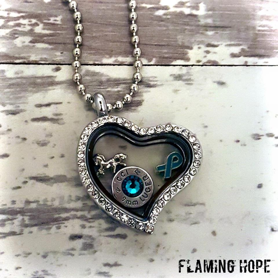 Heart Floating Locket with Charms