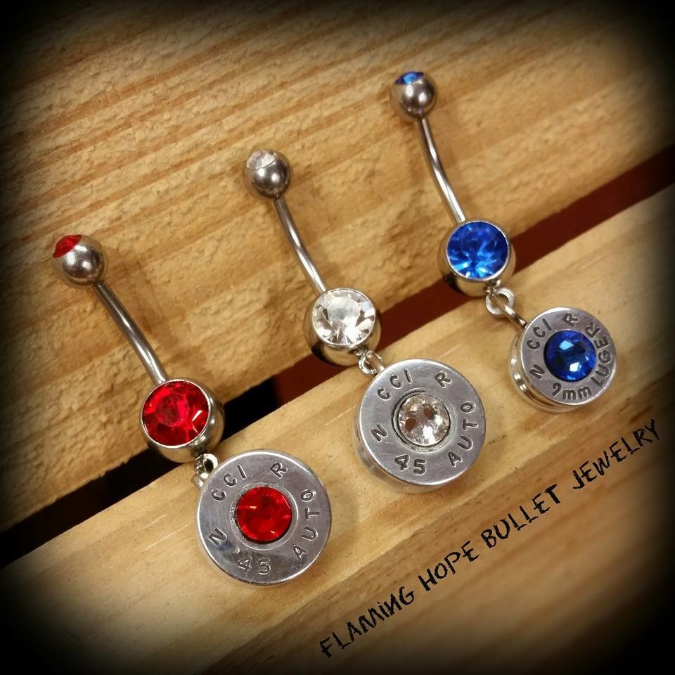 Bullet Casing Belly Ring
