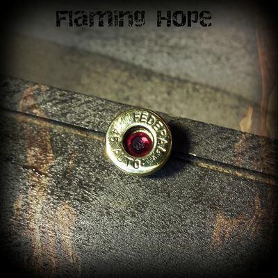 Bullet Casing Base Lapel Pin/Tie Tack