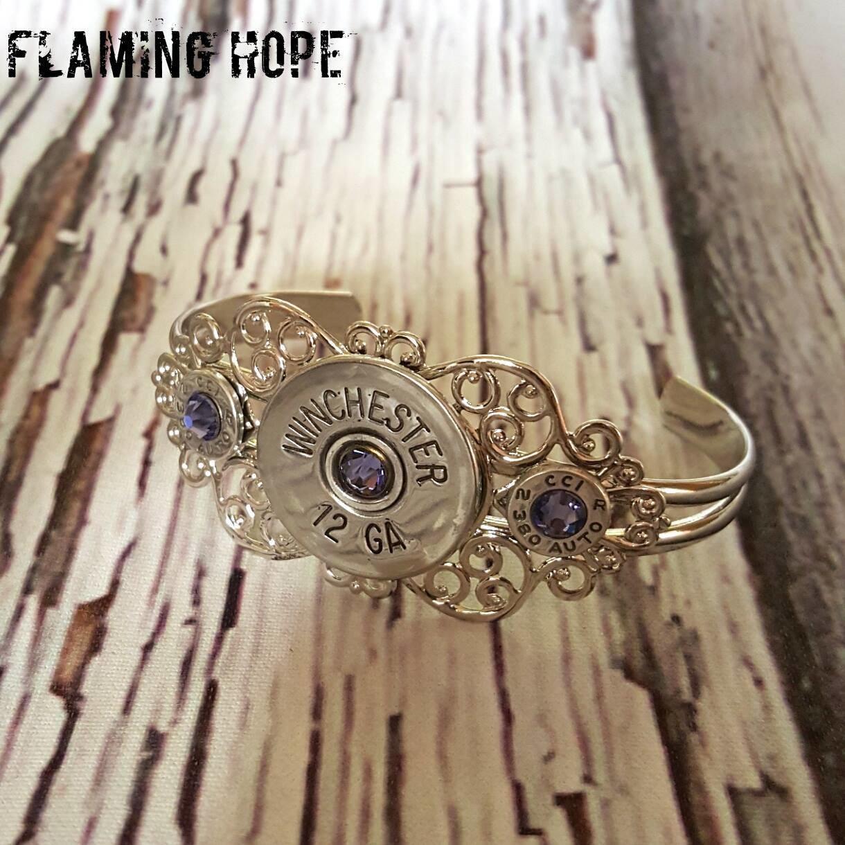 Silver Plated Filigree Bullet Bracelet