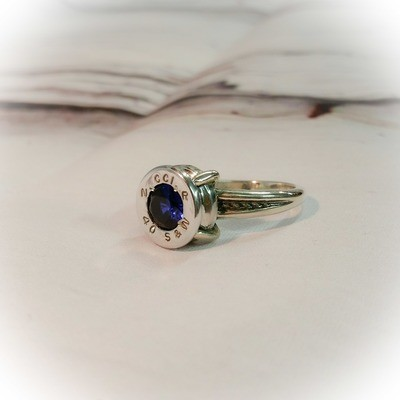 Bullet Casing Sterling Silver Rope Ring