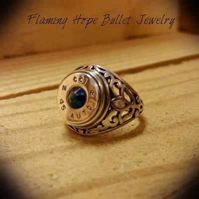 Bullet Casing Sterling Silver Filigree Ring