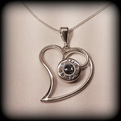 Sterling Silver Bullet Heart Pendant and Chain