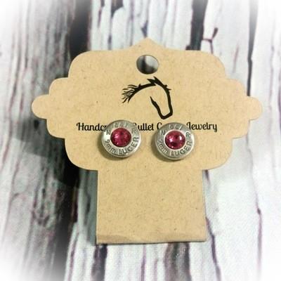 Bullet Casing Base Post Earrings
