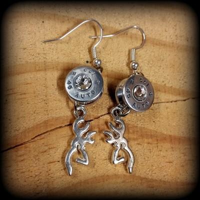 Deer and Ammo Earrings