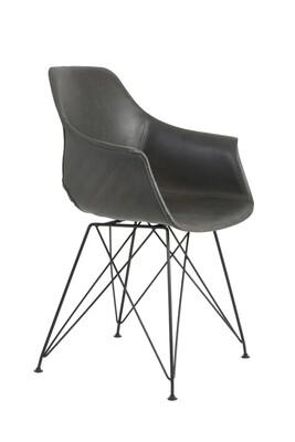 Stuhl Lehne Kunstoff/Eisen