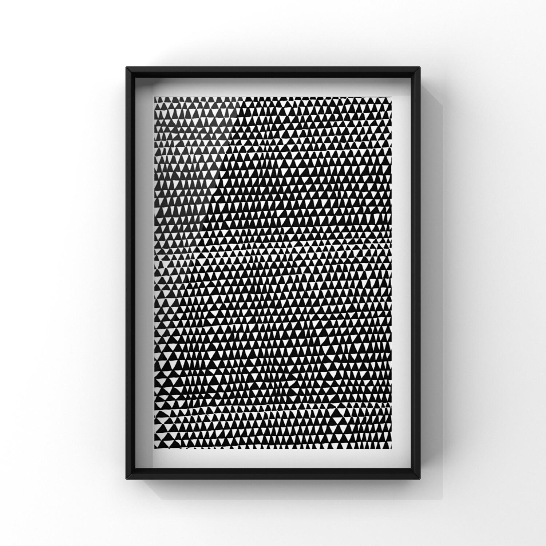 Human error, Trianglar A4 Print