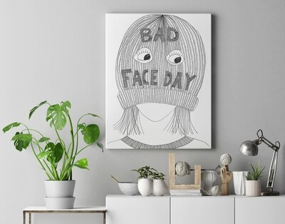 Bad face day A3 Print