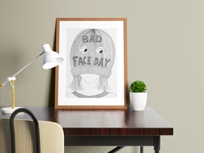 Bad face day A4 Print