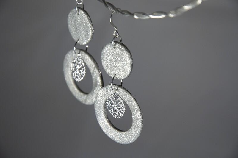 Snöflinga silverglitter