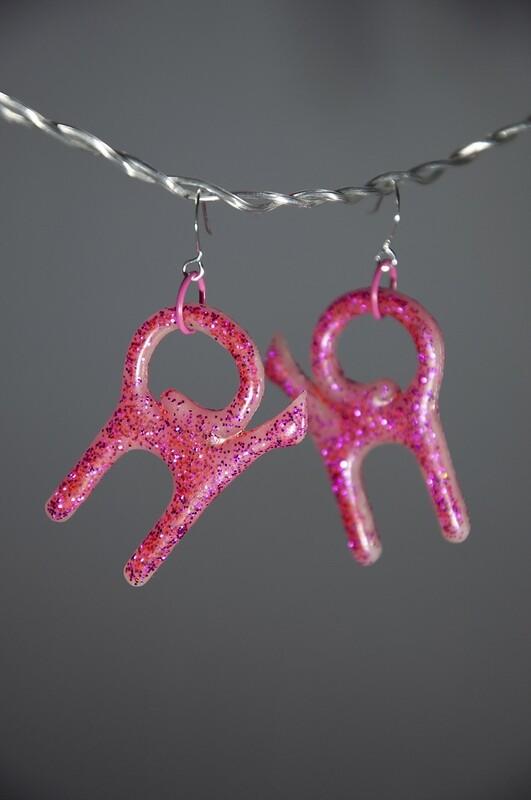 Katter rosa glitter, Små
