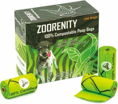 Zoorenity NO PLASTIC Compostable Poop Bags