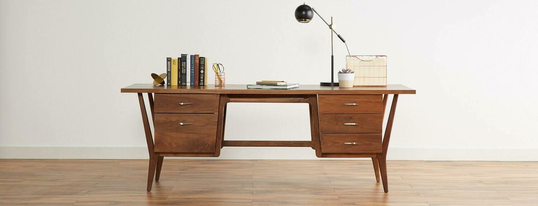 JB Xavier Desk Wood Stain: Walnut