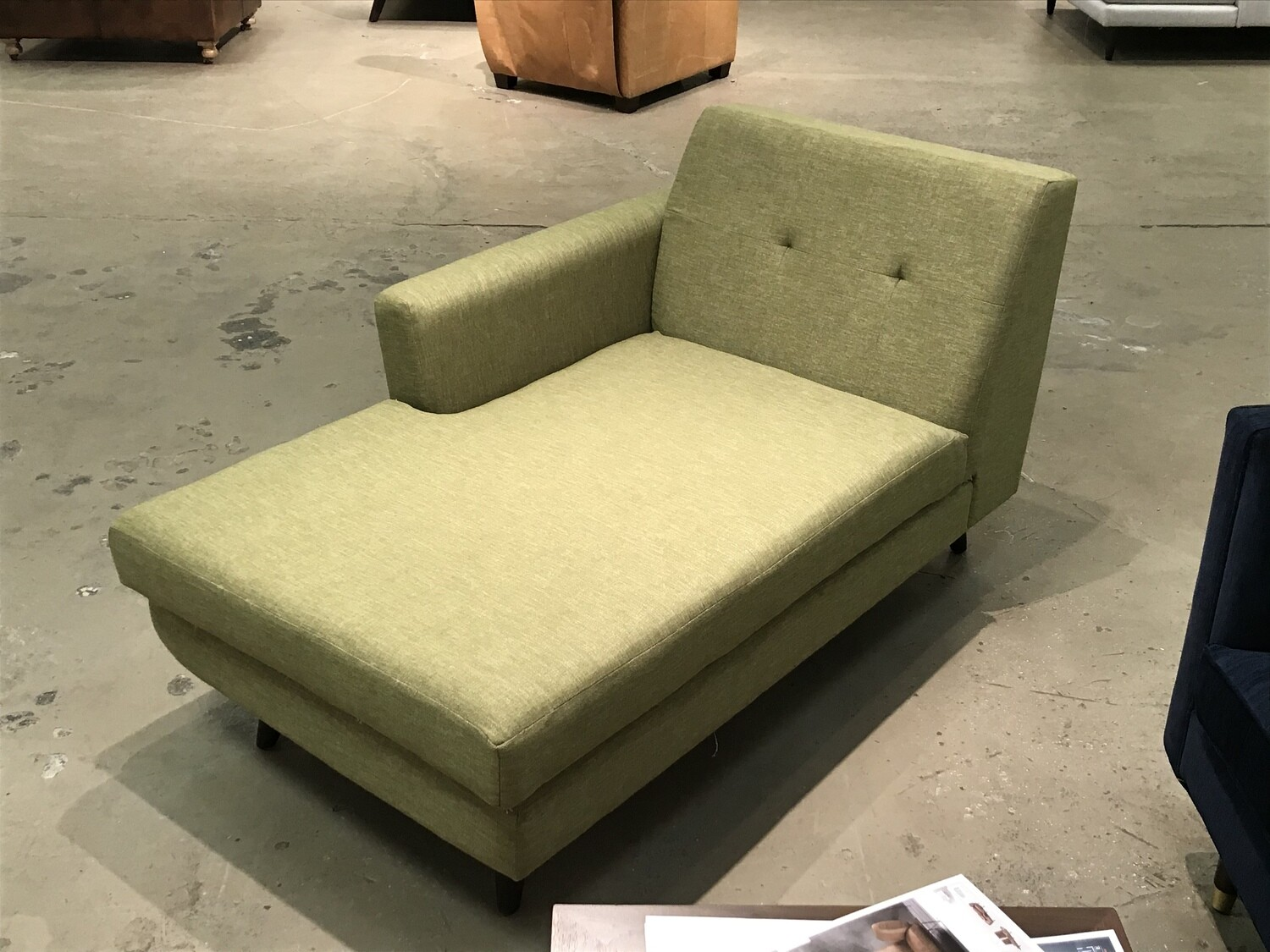 JB Hughes Single Arm Chaise (Key Largo Grass) (matching couch available)