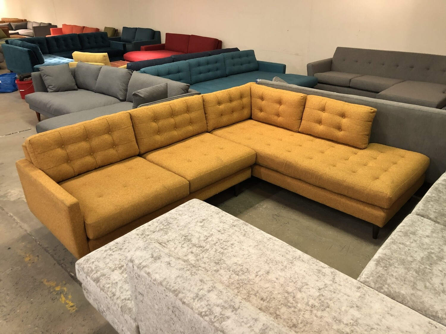 JB Eliot Sectional with Bumper (2 piece) (Cordova Amber)
