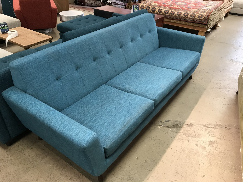 JB Hughes Grand Sofa - Lucky Turquoise