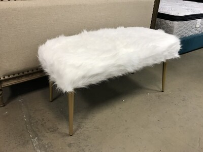 Faux Fur Bench  (4-leg)