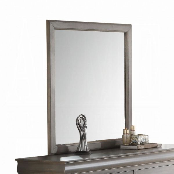Louis Philippe III Mirror (Dark Gray)