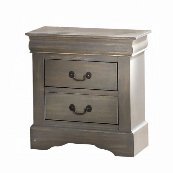 Louis Philippe III Nightstand (Dark Gray)