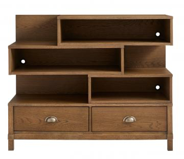 Stone & Leigh Driftwood Park Low Bookcase in Sunflower Seed