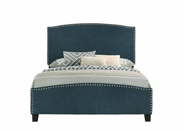 Cathy Queen Bed (Navy Blue)