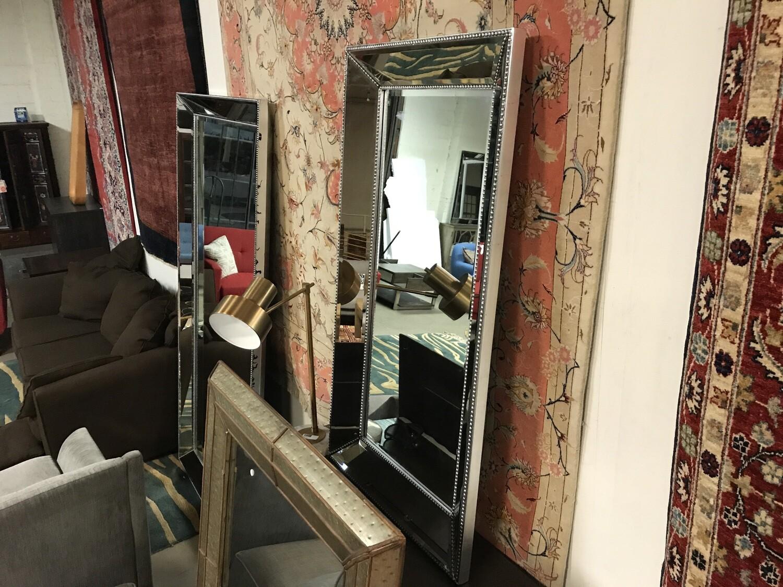 "BMC Hollywood Glam Antique Mirror 26"" x 48"" Beaded Wall Mirror 23"